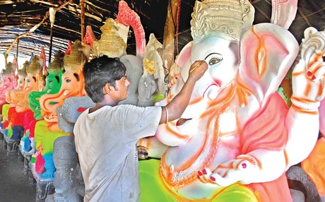 Image result for ganpati sculpture makers mumbai